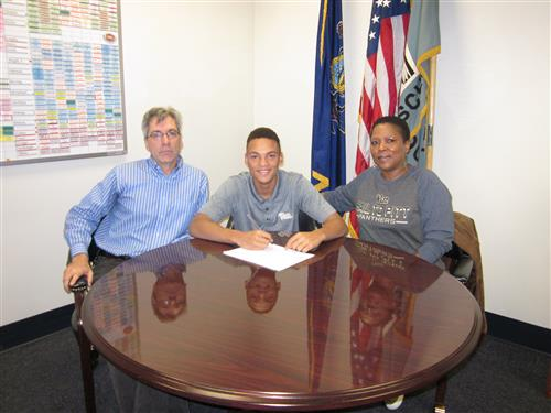 Wrestler Louis Newell Makes it Official