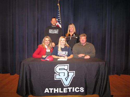 Volleyball Captain Signs with Robert Morris