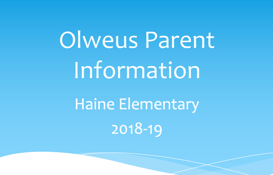 Olweus Parent Information