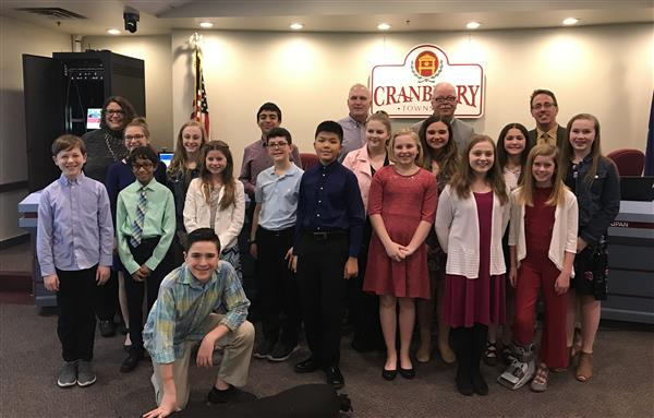 Students Present to Cranberry Township Board of Supervisors