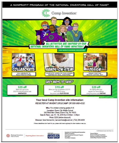 Camp Invention Flyer Info